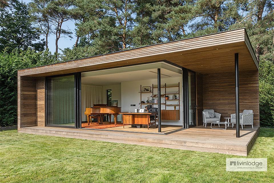 Modern tuinkantoor met overdekt terras te Bonheiden